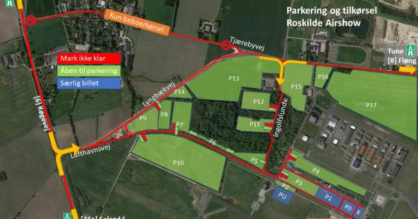 Parkering Roskilde Airshow
